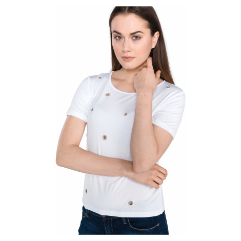 Guess Eyelets T-shirt White