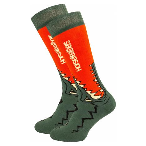 socks Horsefeathers Croc - Red Orange - men´s