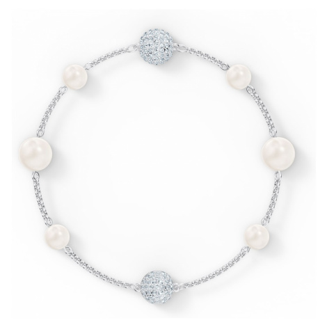 Swarovski Remix Collection Pearl Strand, White, Rhodium plated