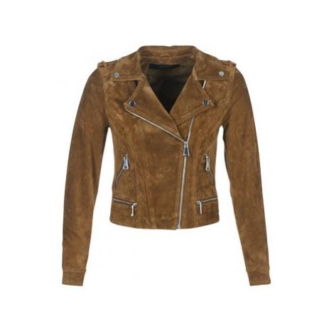 Vero Moda VMROYCE women's Leather jacket in Brown