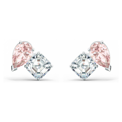 Swarovski Attract Pink & White Crystal Earrings