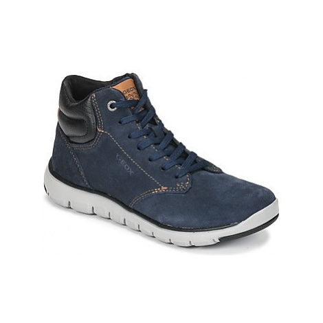 Geox J XUNDAY BOY boys's Children's Shoes (High-top Trainers) in Blue