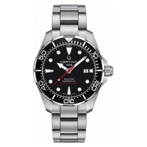 Mens Certina DS Action Diver Powermatic 80 Automatic Watch C0324071105100