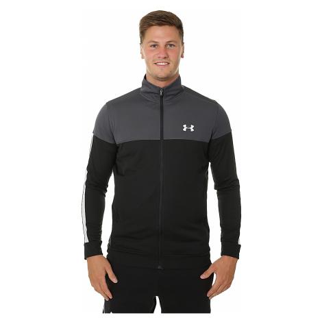 sweatshirt Under Armour Sportstyle Pique Zip - 008/Stealth Gray/White - men´s