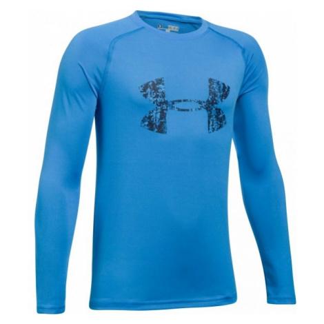 Under Armour BIG LOGO LS TEE blue - Boys' T-shirt