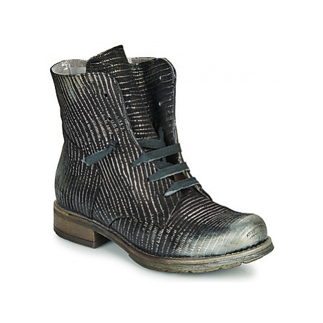 Papucei MAURA BLACK SILVER women's Mid Boots in Black