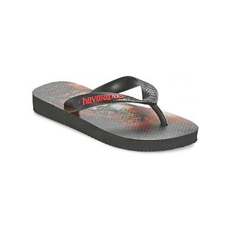 Havaianas JURASSIC WORLD boys's Children's Flip flops / Sandals in Black