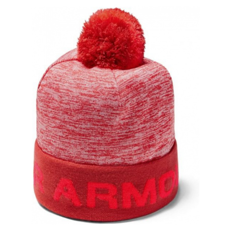 Under Armour GAMETIME POM BEANIE red - Boys' beanie