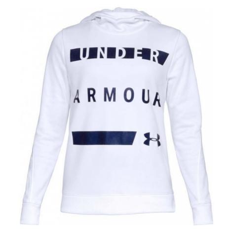 Under Armour SYNTHETIC FLEECE PULLOVER white - Women's sweatshirt