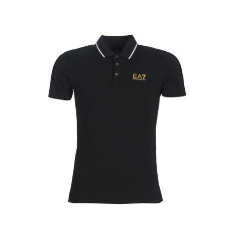 Emporio Armani EA7 TRAIN CORE ID 3GPF51 men's Polo shirt in Black