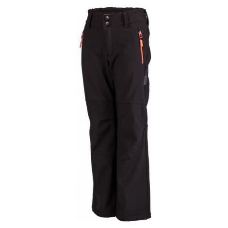 Lewro DAYK black - Kids' softshell trousers