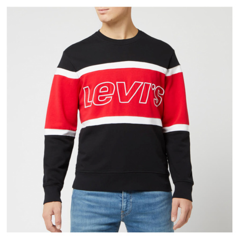 Levi's Men's Pieced Crew Sweatshirt - Black/White - Multi Levi´s