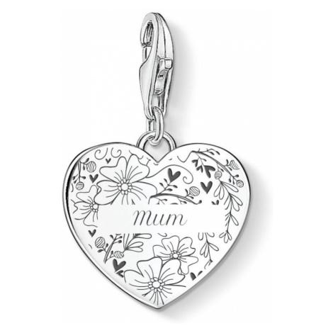 THOMAS SABO Silver Floral Name Heart Charm