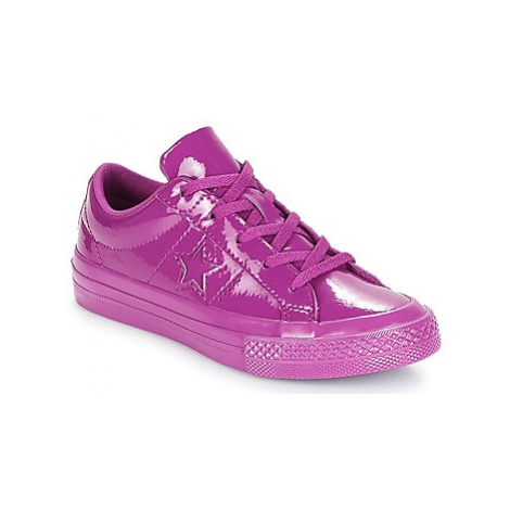 Converse ONE STAR SYNTHETIC OX girls's Children's Shoes (Trainers) in Purple