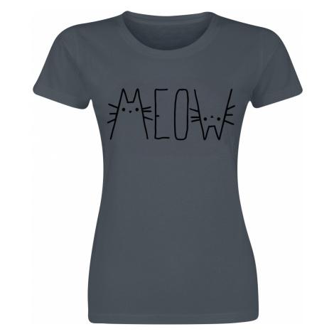 MEOW - - Girls shirt - dark grey