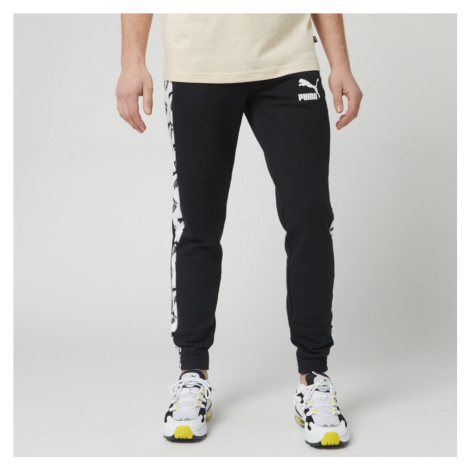 Puma Men's T7 All Over Print Track Pants - Puma Black - Black