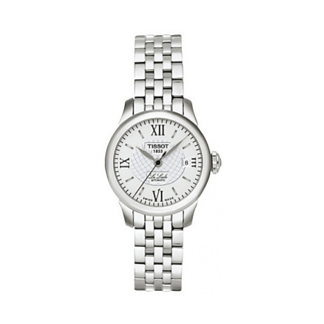 Tissot T41118333 Women's Le Locle Date Bracelet Strap Watch, Silver/White