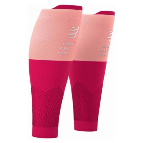 Compressport R2V2 pink - Compression calf sleeves