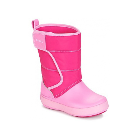 Crocs LODGE POINT SNOW BOOT girls's Children's Wellington Boots in Pink