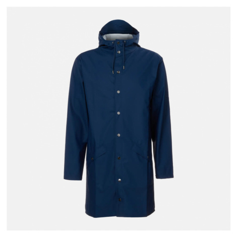 RAINS Long Jacket - True Blue - XS-S