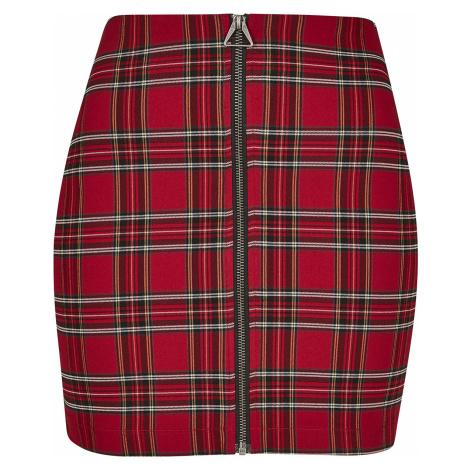 Urban Classics - Ladies Short Checker Skirt - Mini skirt - red-black