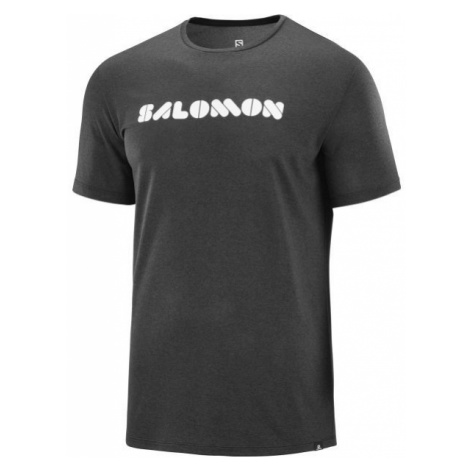 Salomon AGILE GRAPHIC TEE black - Men's T-Shirt