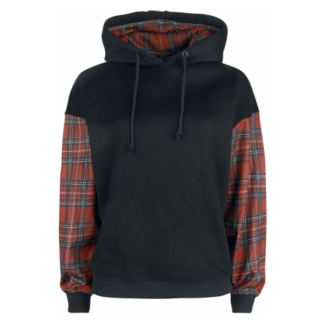 Forplay Kim Hooded sweater black red