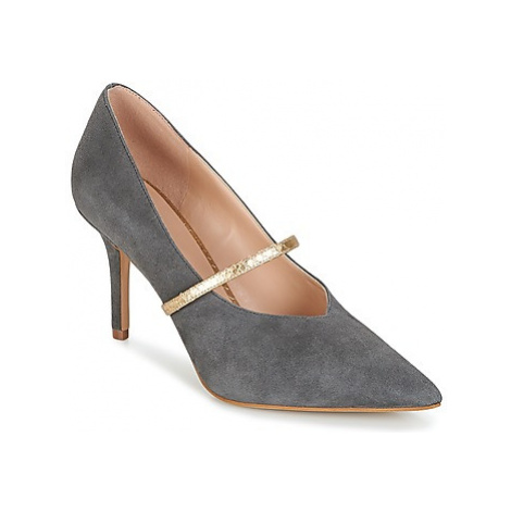 KG by Kurt Geiger V-CUT-MID-COURT-WITH-STRAP-GREY women's Court Shoes in Grey KG Kurt Geiger