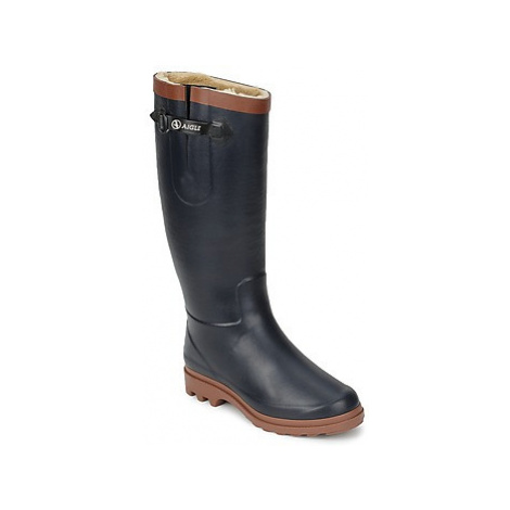 Aigle AIGLENTINE FUR women's Wellington Boots in Blue