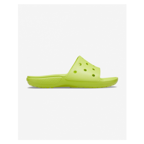 Crocs Classic Slippers Green Yellow