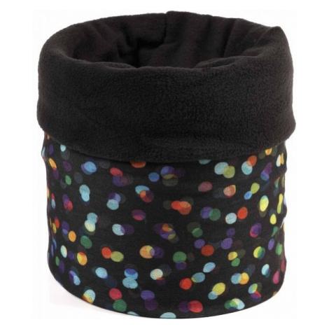 Finmark Kids' multi-purpose scarf black - Kids' multi-purpose scarf