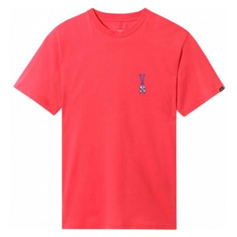 Vans MN COURT CARD SS red - Men's T-Shirt