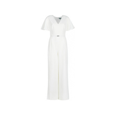 Lauren Ralph Lauren WHITE-SHORT SLEEVE-JUMPSUIT women's Jumpsuit in White