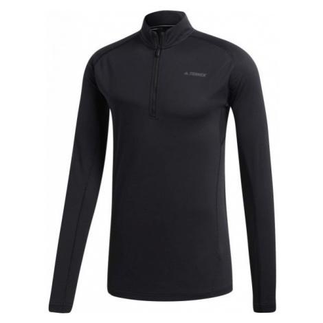 adidas TRACE ROCKER 1/2 LS black - Men's sports T-shirt