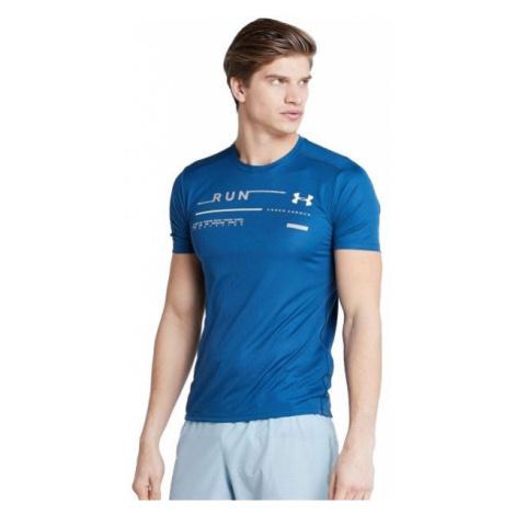 Under Armour RUN GRAPHIC TEE blue - Men's running T-shirt