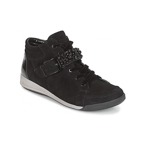 Ara GESSINO women's Shoes (High-top Trainers) in Black
