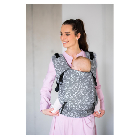 Baby Carrier - Be Lenka 4ever Neo - Bloom - Grey wide with the possibility of crossing
