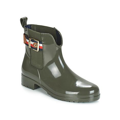 Tommy Hilfiger CORPORATE BELT RAIN women's Wellington Boots in Green