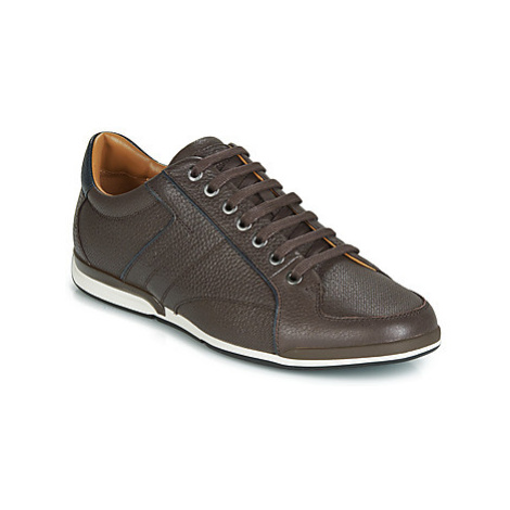 BOSS SATURN LOWP TBPF1 men's Shoes (Trainers) in Brown Hugo Boss