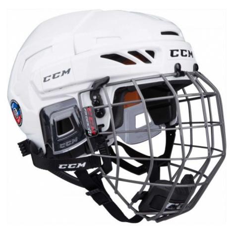 CCM FITLITE 90 COMBO SR white - Hockey helmet