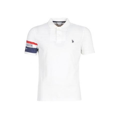 U.S Polo Assn. USPA LOGO POLO men's Polo shirt in White U.S. Polo Assn
