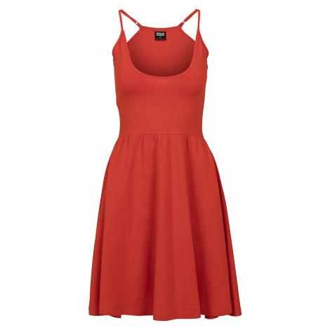Urban Classics - Ladies Spaghetti Dress - Dress - red