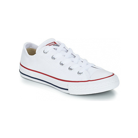 Converse ALL STAR OX girls's Children's Shoes (Trainers) in White