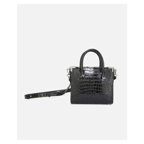 The Kooples - Medium black croco-print Ming bag - WOMEN
