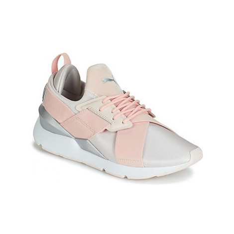 Puma WN MUSE SATIN II.PEARL women's Shoes (Trainers) in Orange