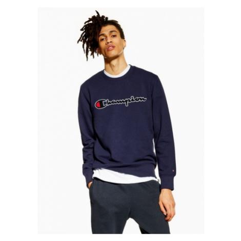 Mens Champion Purple Navy Large Chest Logo 'Corporate' Sweatshirt, Navy