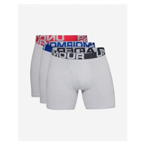 """Under Armour Charged Cotton® 6"""" Boxers 3 ks Grey"""
