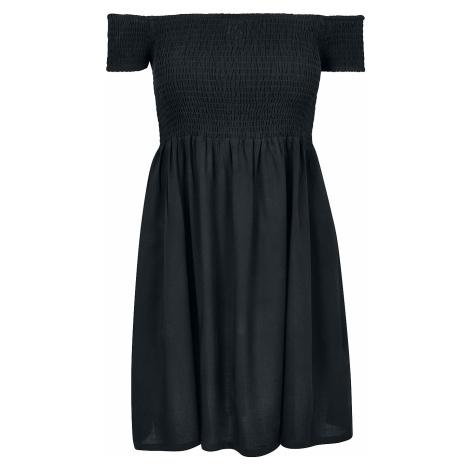Urban Classics - Ladies Smoked Off Shoulder Dress - Dress - black
