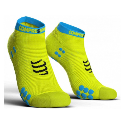 Compressport RACE V3.0 RUN LO yellow - Running socks