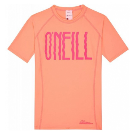 O'Neill PG LOGO SHORT SLEEVE SKINS orange - Girls' T-shirt with UV filter